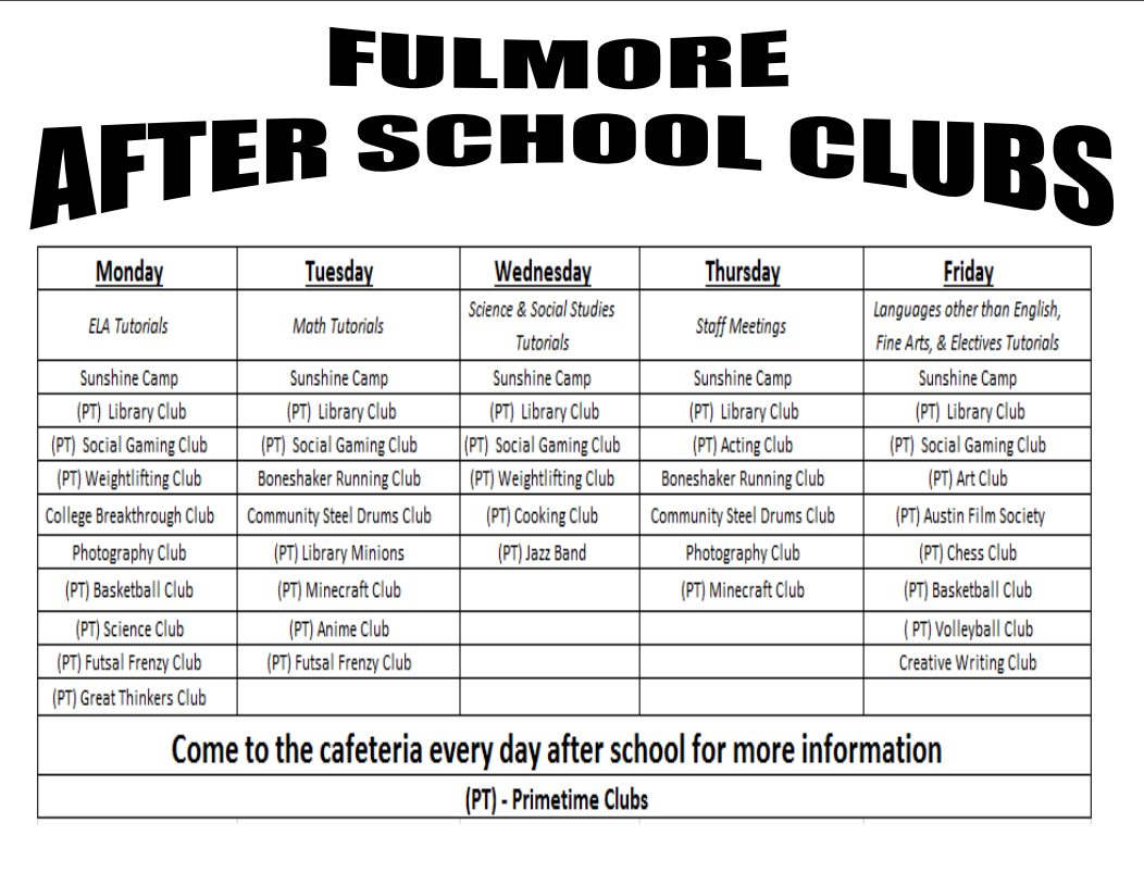 Current after school programs available – After School ...